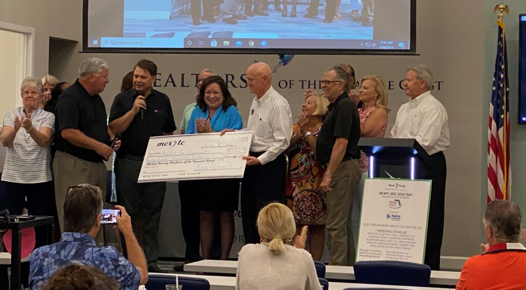 Check presentation to Habitat for Humanity of Martin County
